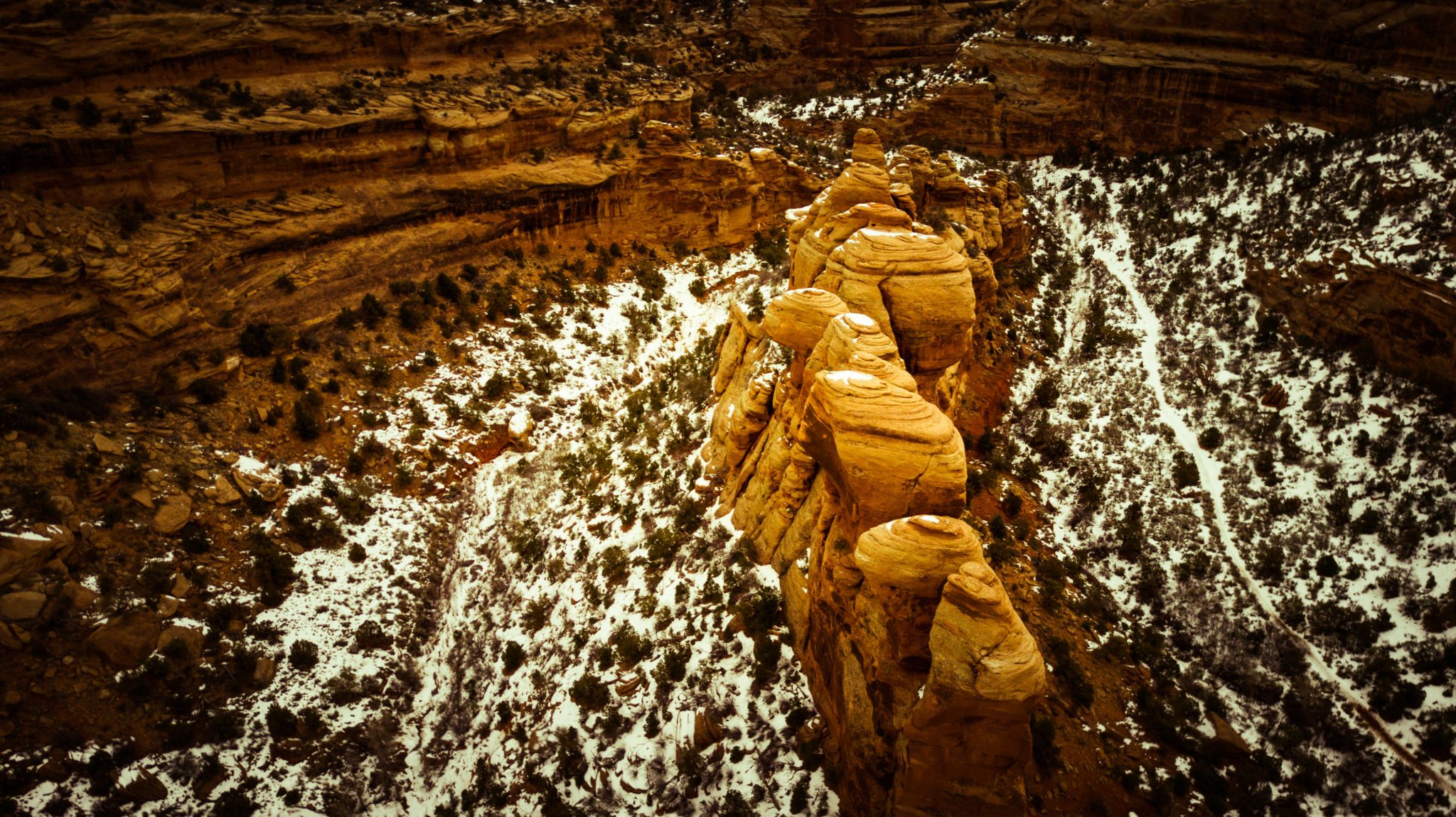 A hidden valley is revealed next to Rough Canyon